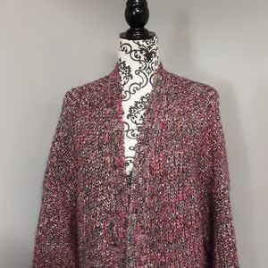 Mossimo Knit Long Open Front Cardigan Sweater